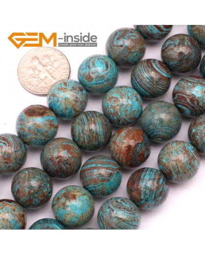 """G9232 14mm Round Smooth Gemstone Blue Crazy Lace Agate DIY Crafts Jewelry Making Beads 15"""" Natural Stone Beads for Jewelry Making Wholesale"""