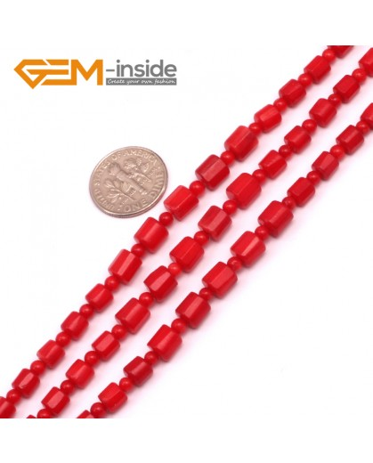 "G9239  3-6mm Graduated Gemstone Red Coral DIY Jewerly Necklace Making Loose Beads15"" Natural Stone Beads for Jewelry Making Wholesale"