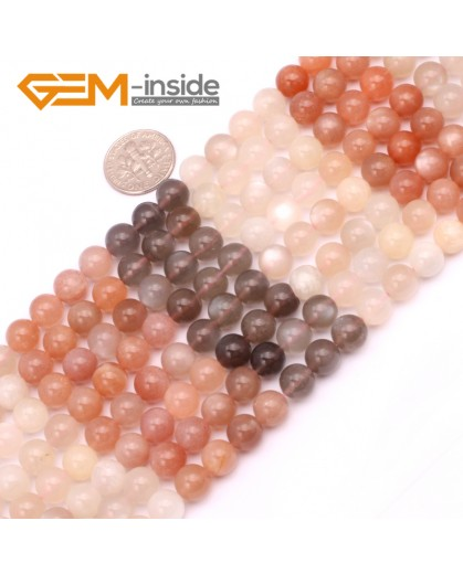 """G9245 8mm Round Gemstone Moonstone DIY Jewelry Crafts Making Loose Beads Strand15"""" 4-10mm Natural Stone Beads for Jewelry Making Wholesale"""