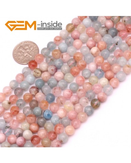 """G9248 6mm Round Gemstone Morgan Stone DIY Crafts Jewelry Making Loose Beads 15""""6-10mm Pick Natural Stone Beads for Jewelry Making Wholesale"""
