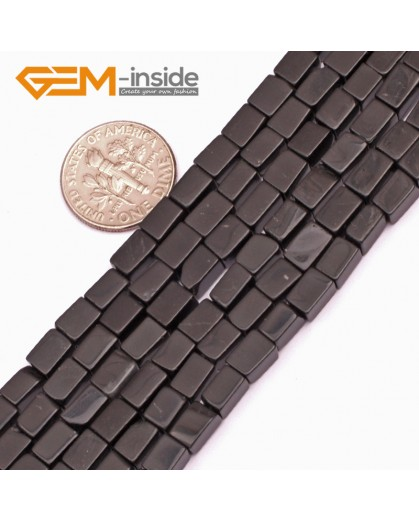 """G9278 Black Agate 4x6mm Square Gemstone DIY Crafts Jewelry Making Loose Beads15""""  2 Materials Pick Natural Stone Beads for Jewelry Making Wholesale"""