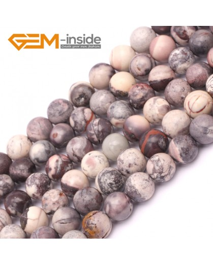 """G9420 8mm Round Smooth Gemstone Purple Flower Agate Jewelry Making Loose Beads Strand 15"""" Natural Stone Beads for Jewelry Making Wholesale`"""