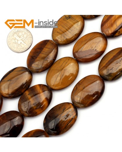 "G9453 Yellow/Tiger Eye 18x25mm Oval Twist Gemstone Jewelry Making Stone Loose Beads Strand 15"" Natural Stone Beads for Jewelry Making Wholesale"