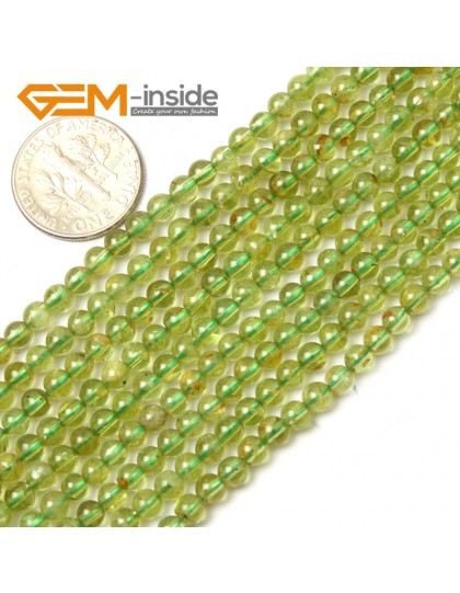 "G0707 4mm Natural Green Peridot Stone Round Gemstone Tiny Jewelry Making Loose Spacer Beads Strand 15"" Natural Stone Beads for Jewelry Making Wholesale"