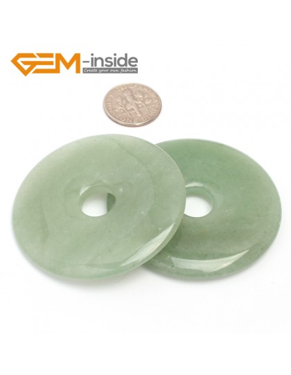 G7065 Green Aventurine(50mm) Natural Ring Lucky Buckle Beads For Earrings and Pendants 1 pcs 30 40 50mm Pick Pendants Fashion Jewelry Jewellery