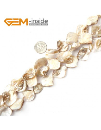 """G2393 White Free Shipping Freeform Sea Shell Loose Beads strand 15""""Jewelery Making 15x20mm Natural Stone Beads for Jewelry Making Wholesale"""