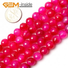 """G0166 8mm Round Faceted Gemstone Plum Agate Loose Beads Strand 15"""" Free Shipping Natural Stone Beads for Jewelry Making Wholesale"""