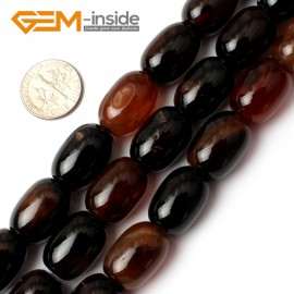 "G0187 13x18mm-Smooth Column Dream Lace Agate Gemstone Loose Beads Strand 15"" Natural Stone Beads for Jewelry Making Wholesale"