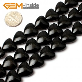 "G0198 14mm Heart Black Agate Gemstone Loose Beads 15"" Free Shipping Natural Stone Beads for Jewelry Making Wholesale"