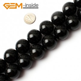 "G0213 20mm Round Gemstone Black Agate Beads Jewelry Making Loose Beads 15""  Free Shipping Natural Stone Beads for Jewelry Making Wholesale"