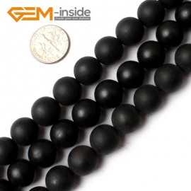 G0253 12mm Round Natural Brazil Balck Agate Onyx Loose Beads Gemstone Strands 15' Natural Stone Beads for Jewelry Making Wholesale