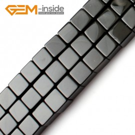 "G0274 10mm Square Cube Black Agate Onyx Gemstone Loose Beads Strand 15"" for Jewelery Making Natural Stone Beads for Jewelry Making Wholesale"
