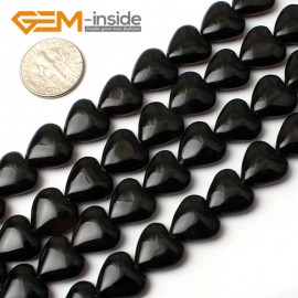 "G0280 12mm Heart Black Agate Loose Beads 15"" Free Shipping Natural Stone Beads for Jewelry Making Wholesale"