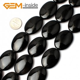 "G0299 22x30mm Natural Oval Black Agate Onyx Gemstone Loose Beads 15"" Jewelry Making Beads Natural Stone Beads for Jewelry Making Wholesale"