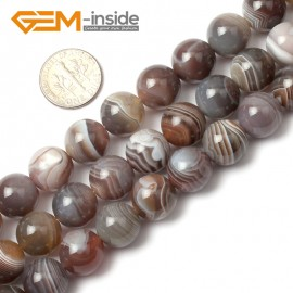 """G0370 12mm Round Natural Gemstone Botswana Agate Loose Beads Strand 15"""" Free Shipping Natural Stone Beads for Jewelry Making Wholesale"""