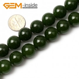 "G0494 14mm Round Green Taiwan Jade Beads Strand 15"" Free Shipping Natural Stone Beads for Jewelry Making Wholesale"