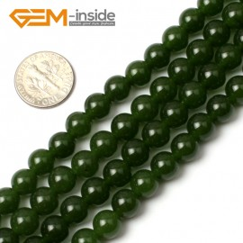 "G0497 8mm Round Green Taiwan Jade Beads Strand 15"" Free Shipping Natural Stone Beads for Jewelry Making Wholesale"