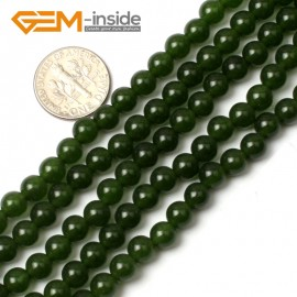 "G0498 6mm Round Green Taiwan Jade Beads Strand 15"" Free Shipping Natural Stone Beads for Jewelry Making Wholesale"