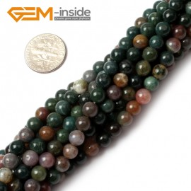"""G0526 4mm Natural Indian Agate Round Gemstone Tiny Jewelry Making Loose Spacer Beads Strand 15"""" Natural Stone Beads for Jewelry Making Wholesale"""