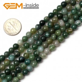 "G0563 6mm Natural Round Green Moss Agate stone quartz Beads strand 15"" Natural Stone Beads for Jewelry Making Wholesale"