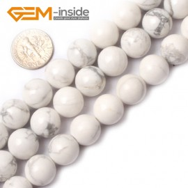 """G0567 10mm Round Natural Howlite (white Turquoise) Beads Strand 15"""" Free Shipping Natural Stone Beads for Jewelry Making Wholesale"""