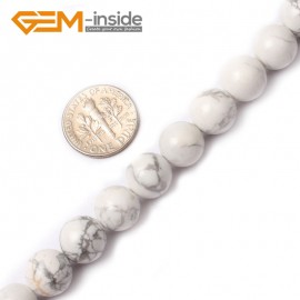 """G0568 12mm Round Natural Howlite (White Turquoise ) Beads Strand 15"""" Free Shipping Natural Stone Beads for Jewelry Making Wholesale"""