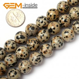 "G0575 12mm Natural Round Dalmatian Jasper Stone Beads Strand 15"" Natural Stone Beads for Jewelry Making Wholesale"