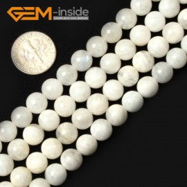 """G0658 8mm Natural Round Rainbow Moonstone Gemstone Loose Beads Strand 15"""" Natural Stone Beads for Jewelry Making Wholesale"""