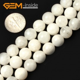 "G0659 10mm Natural Round Rainbow Moonstone Gemstone Loose Beads Strand 15"" Natural Stone Beads for Jewelry Making Wholesale"