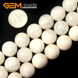 """G0661 14mm Natural Round Rainbow Moonstone Gemstone Loose Beads Strand 15"""" Natural Stone Beads for Jewelry Making Wholesale"""