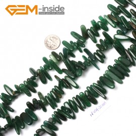 "G0900 18-20mm (Afraica Jade) Freeform Stick Gemstone Jewelry Making Loose Beads 15"" 39 Materials Natural Stone Beads for Jewelry Making Wholesale"