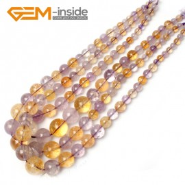 "G0934 6-16mm Ametrine Graduated Gemstone Loose Beads Strand 15"" Natural Stone Beads for Jewelry Making Necklace Wholesale"