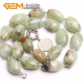"G10355 15x22mm Natural Freeform Mixed Color Aquamarine Gemstone Beads Handmad Finished Jewelry Necklace 18"" Gemstone Birthstone Necklaces Fashion Jewelry Jewellery"