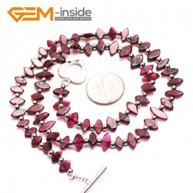 "G10391 Marquise 4x8mm Natural Red Garnet Gemstone Necklace 16.5"" Birthstone Necklaces Fashion Jewelry Jewellery"