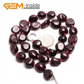 "G10395 Freefrom 6x12mm Natural Red Garnet Gemstone Necklace Handmade 17"" Birthstone Necklaces Fashion Jewelry Jewellery"