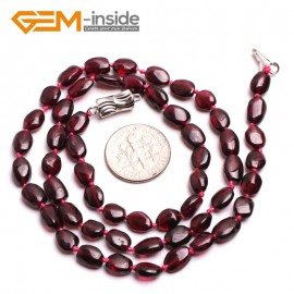 "G10396 Freeform 5x8mm Natural Red Garnet Gemstone Beads Handmade Choker Necklace 16"" Gemstone Birthstone Necklaces Fashion Jewelry Jewellery"