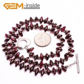 "G10406 Marquise 4x8mm Natural Red Garnet Gemstone Beads Handmade choker Necklace 16"" Gemstone Birthstone Necklaces Fashion Jewelry Jewellery"