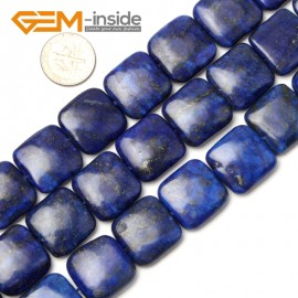 """G1051 20mm (Square) Blue Lapis Lazuli DIY Jewelry Making Gemstone Loose Beads 15"""" Natural Stone Beads for Jewelry Making Wholesale"""