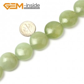 G1285 Natural Green Hua Show Jade Nephrite 20mm Coin Stone Loose Beads strand Free Shipping Natural Stone Beads for Jewelry Making Wholesale