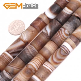 "G15065 12x18mm Frost Column Botswana Agate Beads 15"" Jewelry Making Loose Beads Free Shipping Natural Stone Beads for Jewelry Making Wholesale"