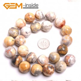 """G15191 16mm Natural Crazy Lace Agate Round Loose Beads Strand 15"""" 6-12mm for Jewelry Making Natural Stone Beads for Jewelry Making Wholesale"""