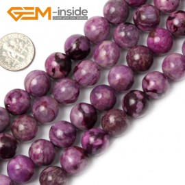 "G1933 12mm round Violet Purple Jasper Beads Strands 15"" Beads for Jewelry Making Wholesale"
