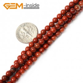 "G2419 4mm Natural Red Jasper Round Gemstone Tiny Jewelry Making Loose Spacer Beads Strand 15"" Natural Stone Beads for Jewelry Making Wholesale"