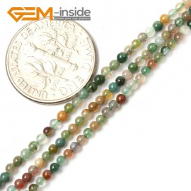 """G2462 2mm Natural Indian Agate Stone Round Gemstone Tiny Jewelry Making Loose Spacer Beads Strand 15"""" Natural Stone Beads for Jewelry Making Wholesale"""