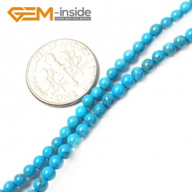 """G2480 3mm Howlite Dyed Turquoise Round Gemstone Tiny Jewelry Making Loose Spacer Beads Strand 15"""" Natural Stone Beads for Jewelry Making Wholesale"""