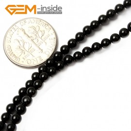 "G2486 3mm Natural Black Agate Round Gemstone Tiny Jewelry Making Loose Spacer Beads Strand 15"" Natural Stone Beads for Jewelry Making Wholesale"