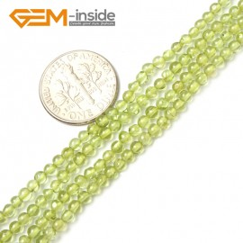 "G2494 3mm Natural Green Peridot Round Gemstone Tiny Jewelry Making Loose Spacer Beads Strand 15"" Natural Stone Beads for Jewelry Making Wholesale"