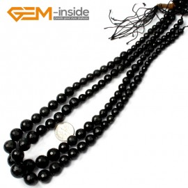 "G2517 6-14mm Faceted Obsidian Graduated Gemstone Loose Beads Strand 15"" Natural Stone Beads for Jewelry Making Necklace Wholesale"