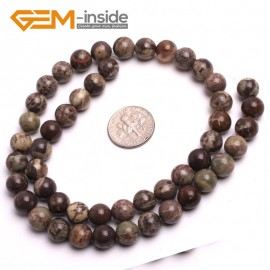 "G2596 8mm Natural Flower Agate Beads Jewelry Making Round Gemstone Loose Beads 15"" 8-16mm Natural Stone Beads for Jewelry Making Wholesale"