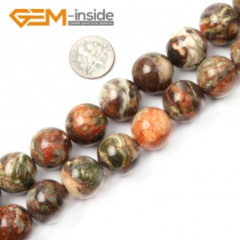 "G2600 16mm Natural Flower Agate Beads Jewelry Making Round Gemstone Loose Beads 15"" 8-16mm Natural Stone Beads for Jewelry Making Wholesale"